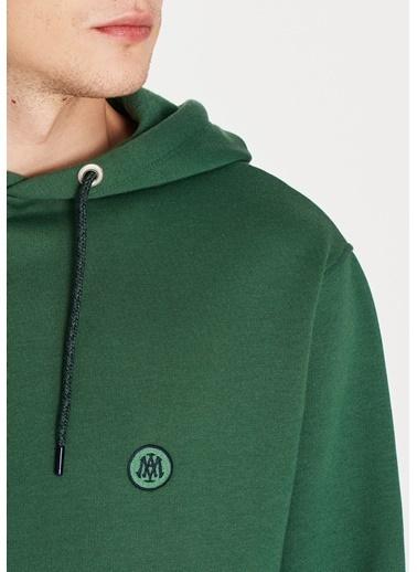 Mavi Mavi Logolu Kapüşonlu Yeşil Sweatshirt Yeşil